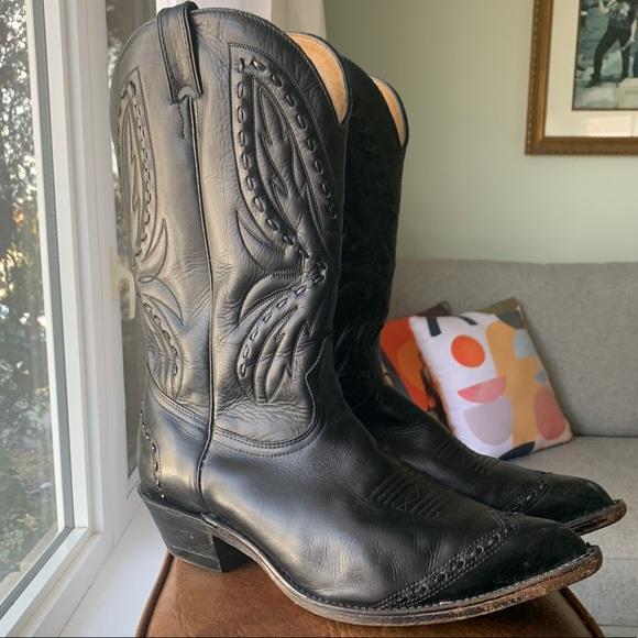 Men's Black Boulet Cowboy Boots